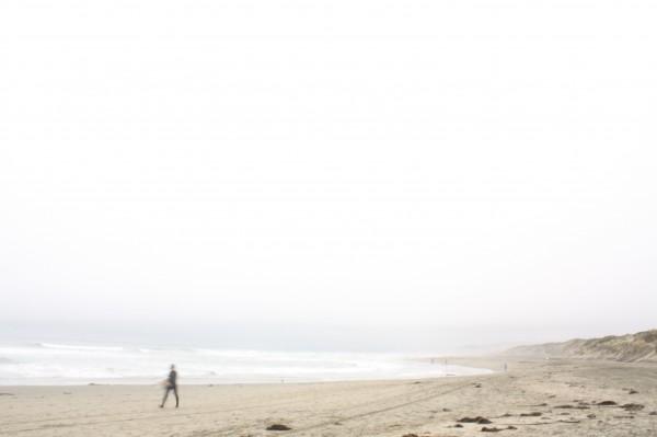 fog, dusk, pacific ocean, ocean beach, san francisco, california