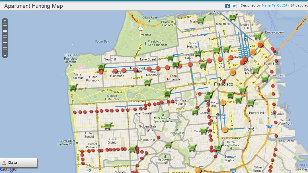 Pacific Heights San Francisco Map.Moving To San Francisco This Map Will Help You Figure Out Where To Live