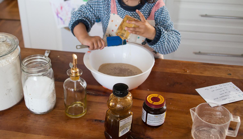 montessori_bread_pouring_honey