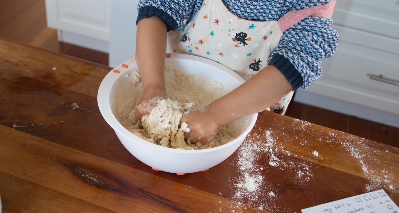 montessori_mixing_bread_dough